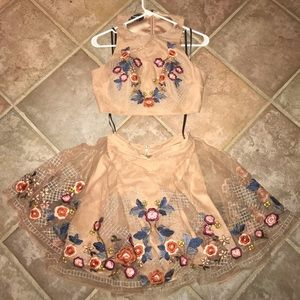 Bebe two piece homecoming dress